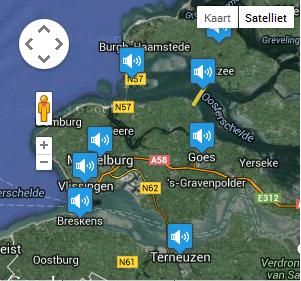 De geluidenkaart van Zeeland