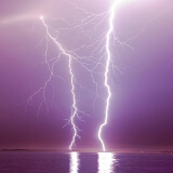 Onweer boven Zeeland