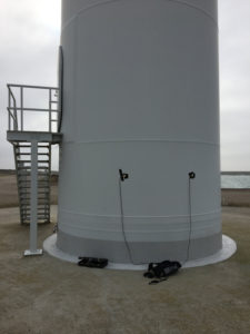 windmolen opname contactmicrofoons